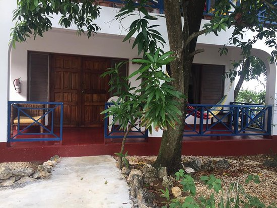 Catcha Falling Star Gardens: The front view of our villa on floor one of two