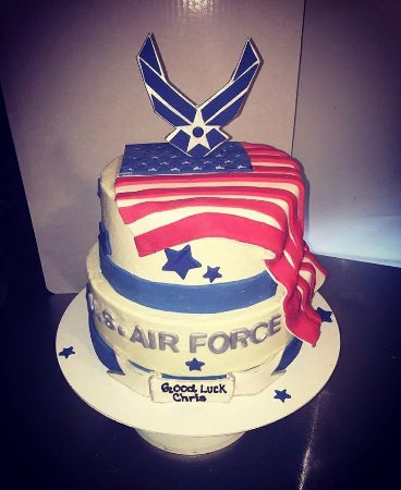 Turners Falls, MA: special cake for a young man entering the Air Force Academy