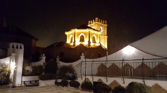 Casa Banos de la Villa: Terraza con vista cúpula iglesia de la Asunción.