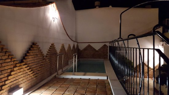 Casa Banos de la Villa: Pequeña alberca o piscina en la terraza.