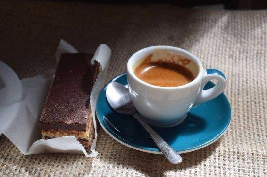 Hamilton, MT: Nanaimo bar pairs beautifully with espresso