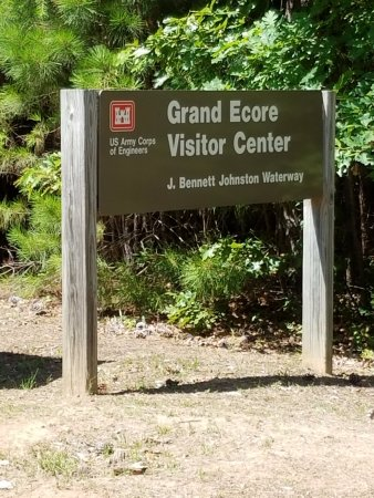 Natchitoches, LA: Look for this sign leading to the Rouge River overlook and visitor center.