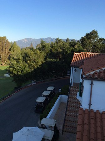 Ojai, CA: The morning view from our very large private balcony