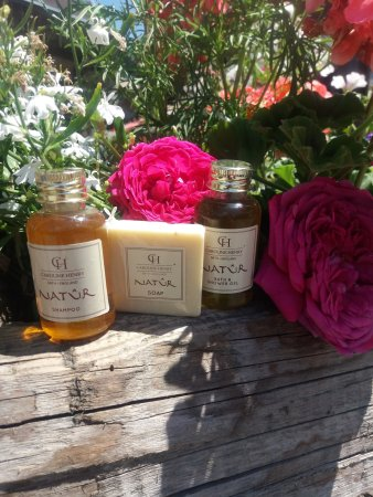 Hotel Chalet d'Antoine: Our New Natur Bath, Shower Gel and soap