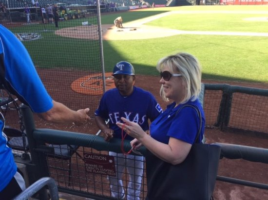 Surprise, AZ: Texas Rangers Spring Training Autograph - Me and Tony Beasley