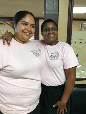 """Picayune, MS: Our serve and her Mom, one of the """"Sisters""""...and the great cook!"""