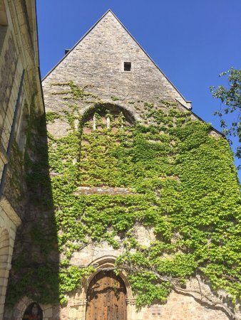 Solesmes, France: Front of abbatial church