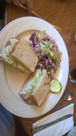 Pescadero, Califórnia: Crab sandwich W/ Mexican Colslaw!