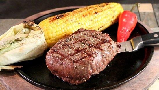 Haltom City, TX: Prime Angus Sirloin with roasted corn on the cobb