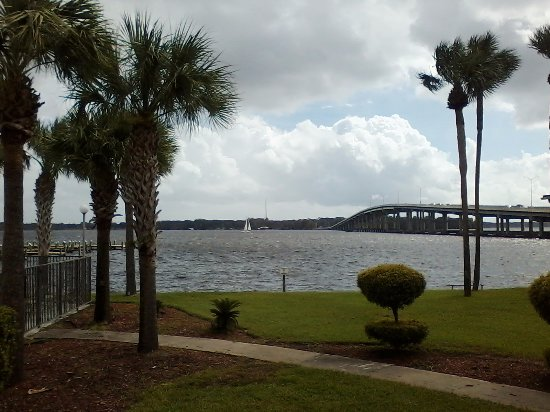 Palatka, FL: This was the view from my room. The pool area is to the left.