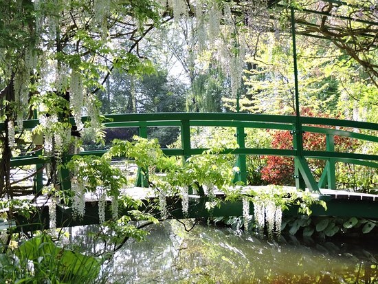 Claude Monet's House and Gardens: Monet's iconic bridge caught with no one on it.