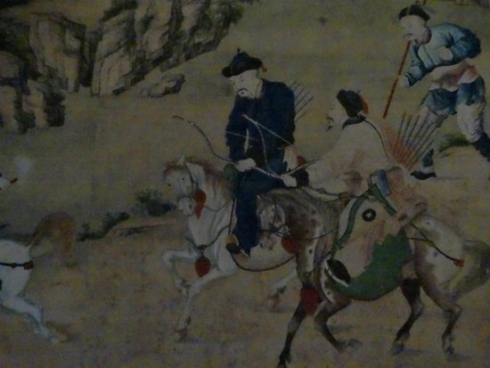Bunnik, The Netherlands: detail van historisch chinees behang in Oud-Amelisweerd