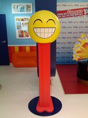 Orange, CT: Life-size Happy Face dispenser
