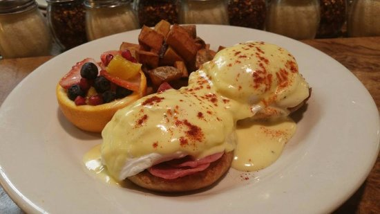 Rockwall, TX: Eggs benedict on sundays from 11 am to 10 pm every sunday