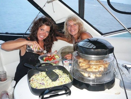 Gulf Island Tours: This is our First Mate Angela on Left and me