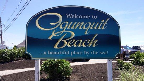 Ogunquit Beach: L'insigne à l'entrée de la plage