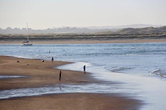 la plage de Malahide en Juin.