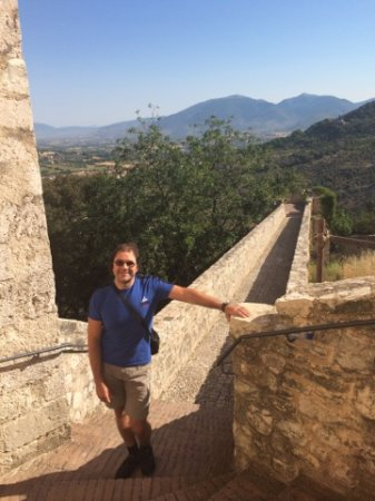 vista su Spoleto dalla Fortezza Albornoz