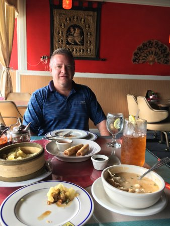 Me enjoying the great food at Siam Thai Cafe Naples Fl