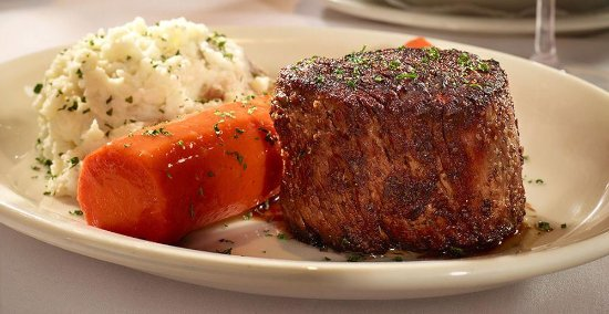 Bob's Steak & Chop House : Prime Filet Mignon, Signature Glazed Carrot, Mashed Potatoes