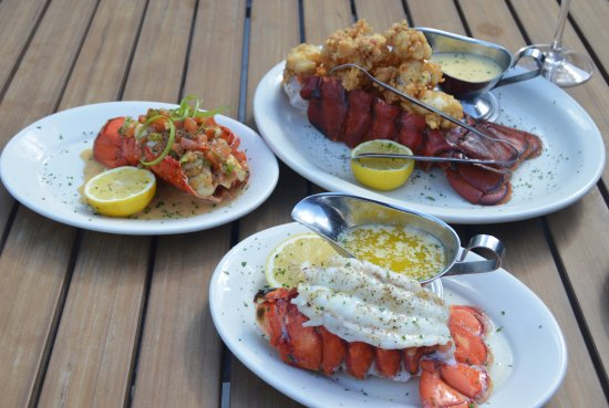 Bob's Steak & Chop House : Fried Lobster, Sauteed Garlic Lobster and Broiled Lobster