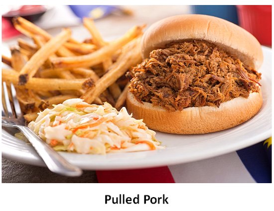 Bedford, Canadá: Our made-from-scratch smokey pulled pork, homemade coleslaw and hand-cut fries.