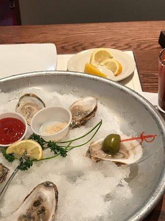 Edmond, OK: East coast oysters salty yum!