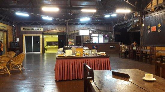 Kota Kinabatangan, Malaysia: Het restaurant