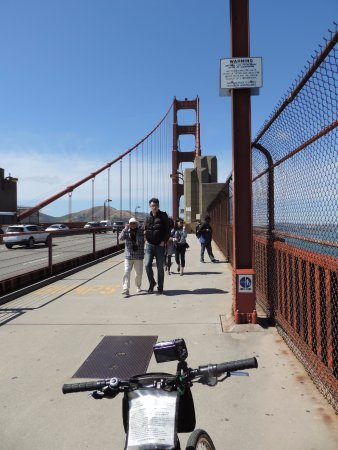 Blazing Saddles Bike Rentals and Tours: On the bridge