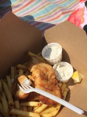Teignmouth, UK: Fish & chips