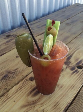 Alpine, TX: Bloody Mary with a smoked jalapeño