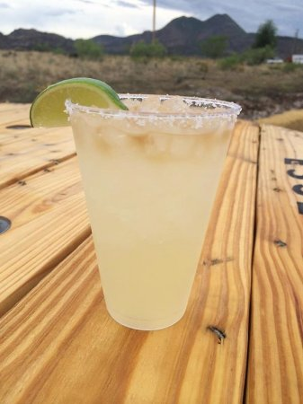 Alpine, TX: El Presidente margarita, with fresh squeezed lime juice