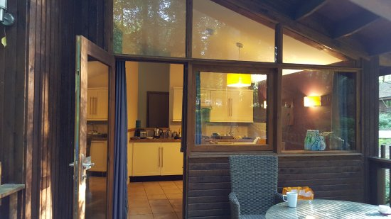 Forest Holidays Forest Of Dean, Gloucestershire: Kitchen From Patio   Fridge,  Dishwasher Included
