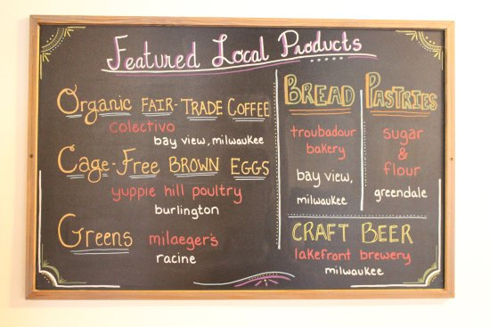 Franklin, WI: We proudly serve local products at Mimosa.
