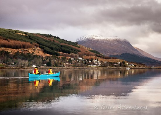 Strontian, UK: Even in February a canoe journey is an amazing experience as winter by Loch Sunart is rarely har
