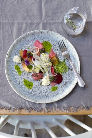 Brading, UK: Goats Cheese and Beetroot
