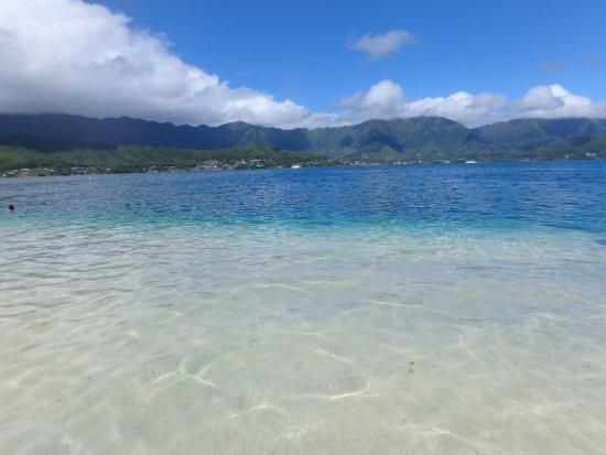 Kaneohe, Havaí: on the sandbar and water surrounding