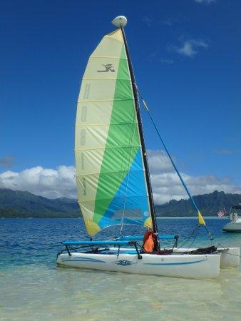 Kaneohe, Havaí: Holokai sail boat