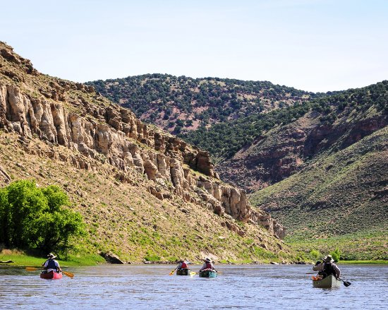 Centennial, Колорадо: Paddling down the Yampa River on the third and last day of our trip.