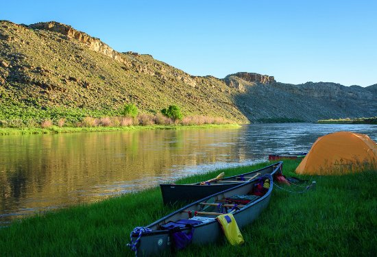 Centennial, CO: We pulled our canoes out of the water and camped by the River on the second night.