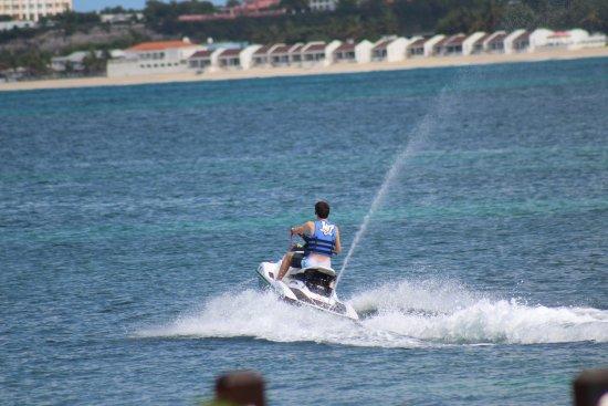 """Симпсон-Бей, Сен-Мартен – Синт-Мартен: Heading out to jet ski """"play area."""""""