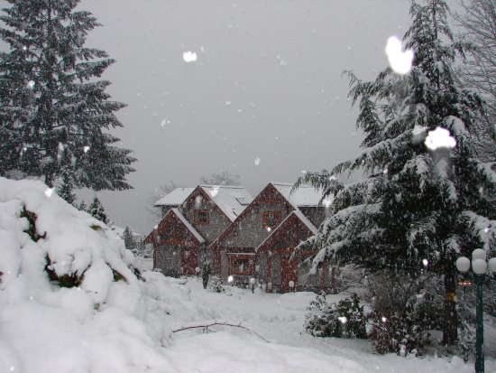 Madeira Park, Canadá: Our Executive Cottages in the snow