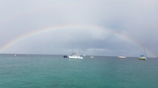 Christ Church, Barbados: A beautiful rainbow from our snorkeling point