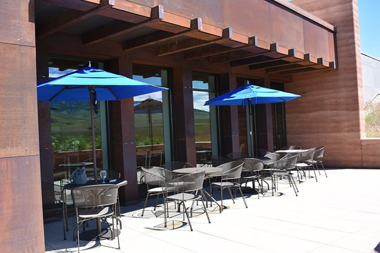 Big Horn, WY: The Brinton Museum bistro patio with wonderful views