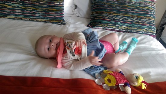 Enjoying the comforts at killaloe hotel on her 1st holiday