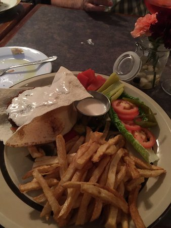Skippack, PA: Falafel Burger with Hand-cut Fries