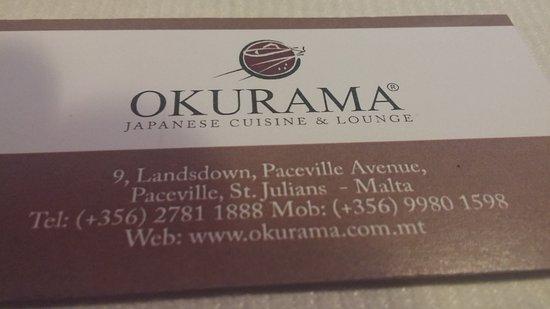 Okurama Japanese Cuisine & Lounge: ristorante