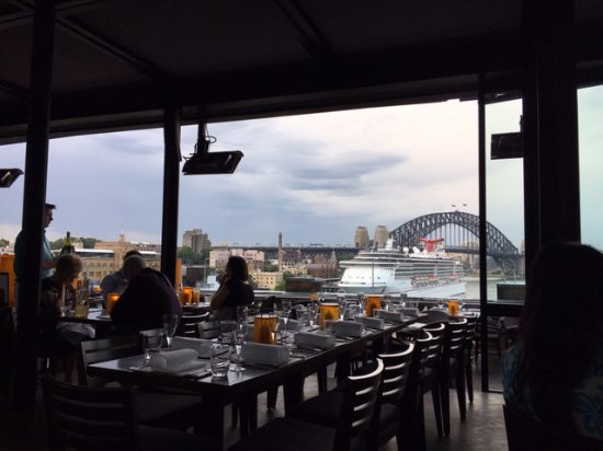 Cafe Sydney: That view - good even on a bad day!
