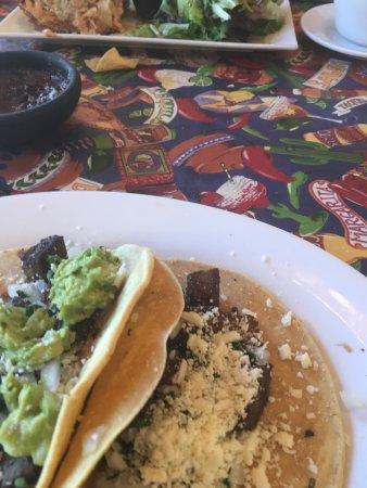 Creede, CO: Carne Asada Street Tacos (I added the guac)