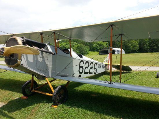 Red Hook, NY: Curtiss JN4-H that flew that day